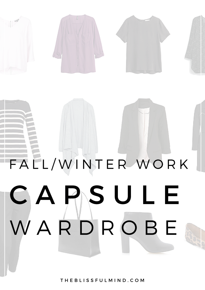 A fall.winter capsule wardrobe especially for the office!