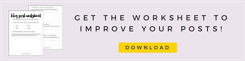 Download The Blog Post Worksheet