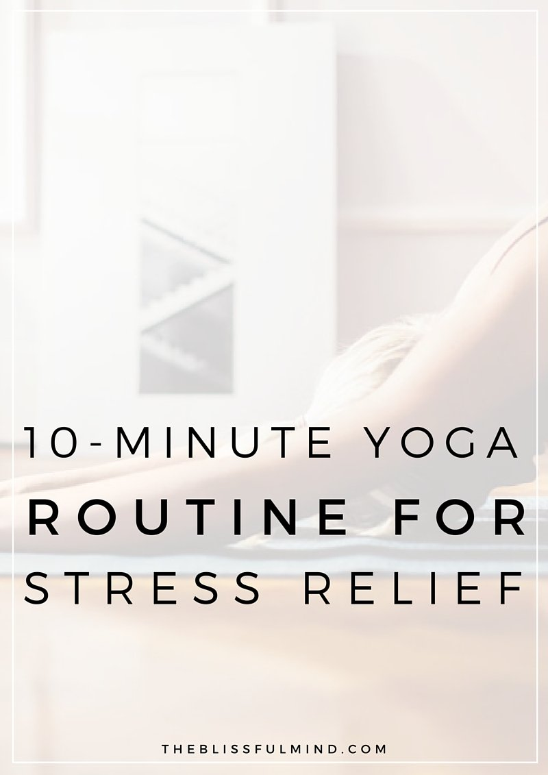 10 Minute Chair Yoga for Good Posture and Stress Relief | Once you're done with this routine, you'll feel some of the pent up stress in your muscles from sitting down melt away and you'll be ready get some more work done! Click through for a FREE phone sized infographic.