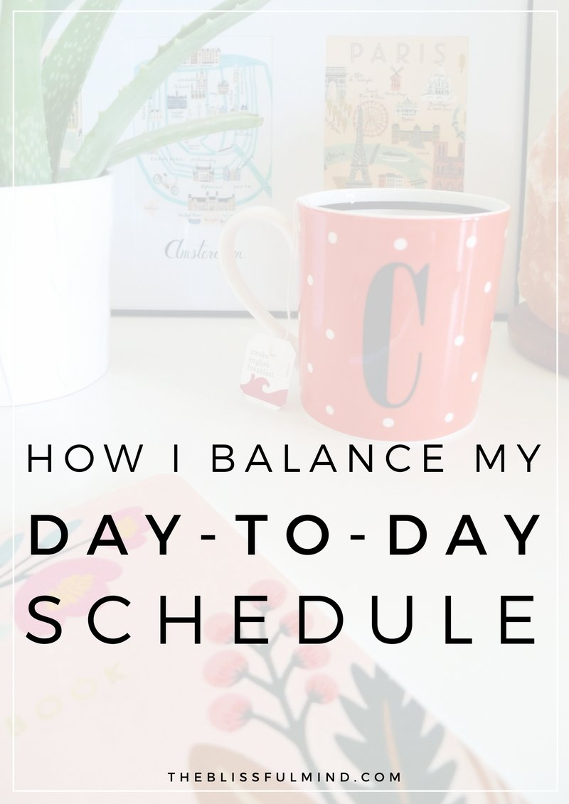 Take a sneak peek at a day in the life of The Blissful Mind and see how I balance my time between writing blog posts, working a 9-5 job, and studying for grad school! #ad #SipJoyfully