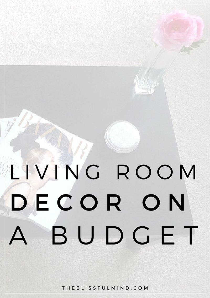 Apartment decor living room the blissful mind How can i decorate my living room on a budget