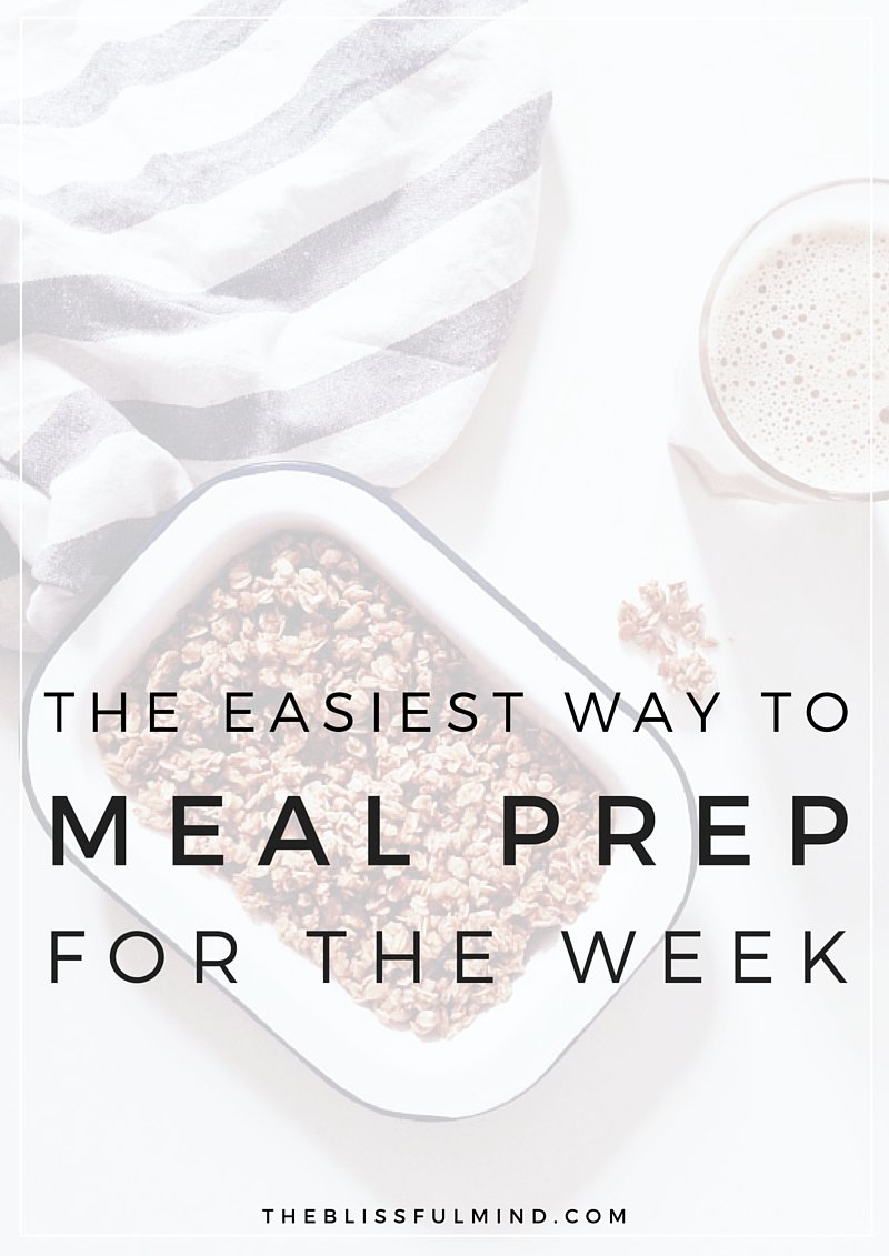 The easiest way to meal prep for the week including 3 recipes and 9 total meals! | theblissfulmind.com