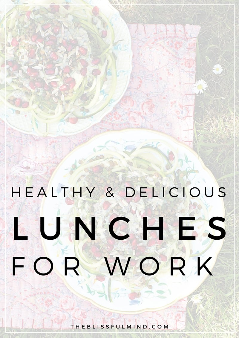 If you're wondering what to make for lunch tomorrow, here are ten delicious & healthy lunch recipes for work that you can make quickly and pack in your bag!