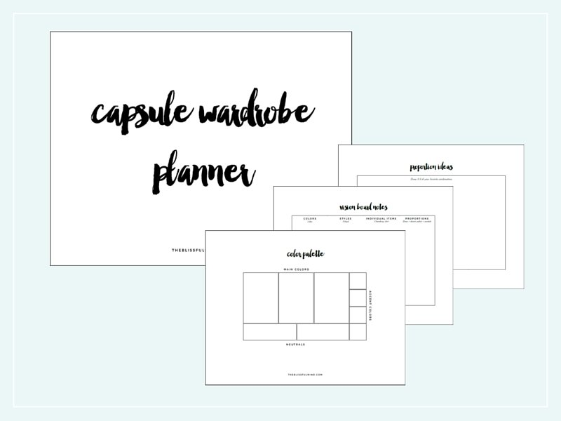 A guide to starting your own capsule wardrobe with a free workbook!