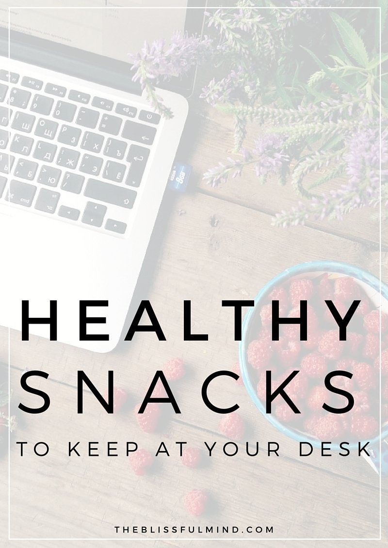 Whether you work from home, in an office, or somewhere where you're running around all day, here are some healthy snack ideas for your desk or bag so you can grab them whenever you're feeling peckish!