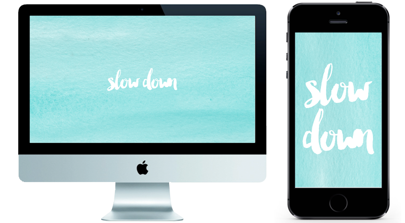 If you're feeling overwhelmed and rarely take time to enjoy things anymore, read this post and download the free wallpaper as a reminder to slow down! Free Wallpaper Download...