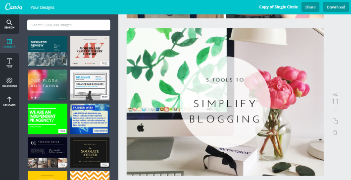 5 Tools to Simplify Blogging // Canva