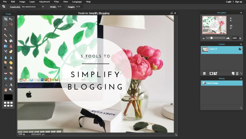 5 Tools to Simplify Blogging // Pixlr