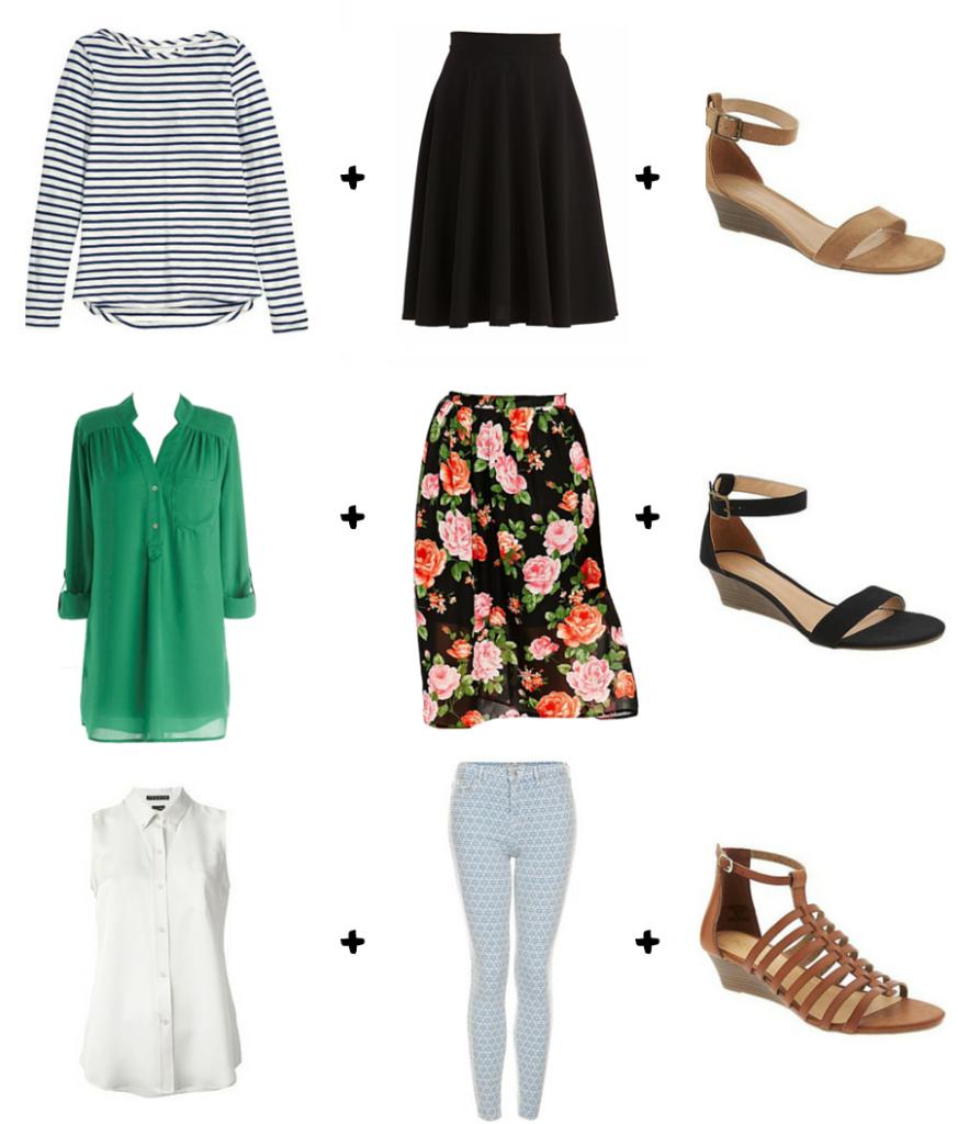 Spring/Summer Capsule Wardrobe Combinations