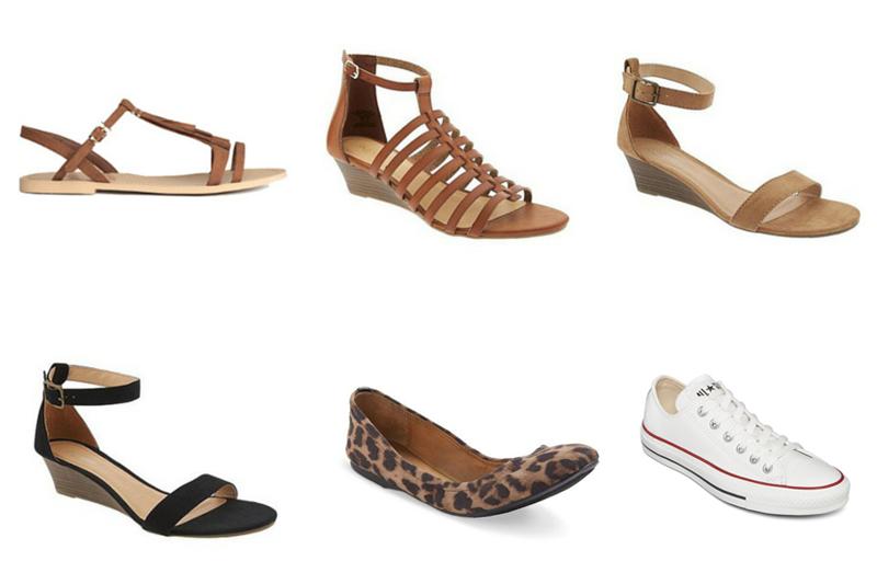 Spring & Summer Capsule Wardrobe Shoes