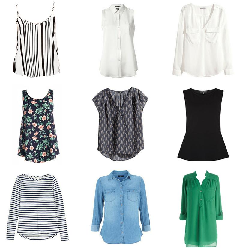 Spring & Summer Capsule Wardrobe Tops