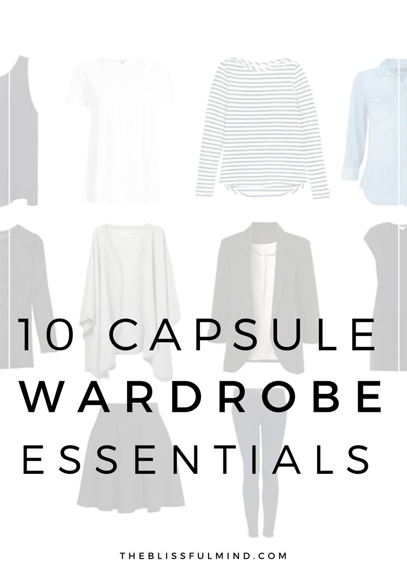 10 capsule wardrobe basics the blissful mind capsule wardrobe basics pronofoot35fo Image collections