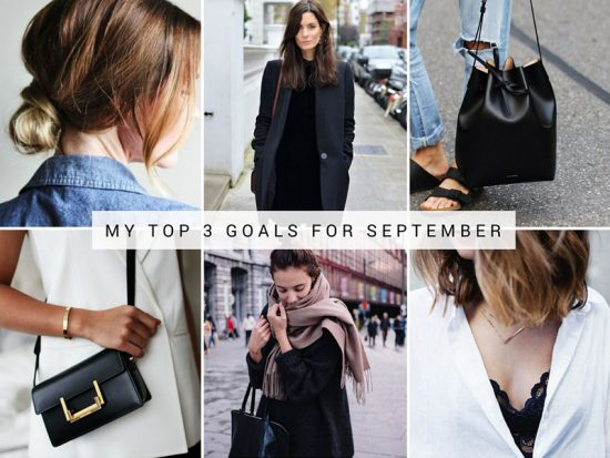 Catherine's Top Three Goals for September | The Blissful Mind