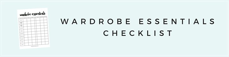 10 capsule wardrobe basics the blissful mind wardrobe essentials checklist pronofoot35fo Image collections