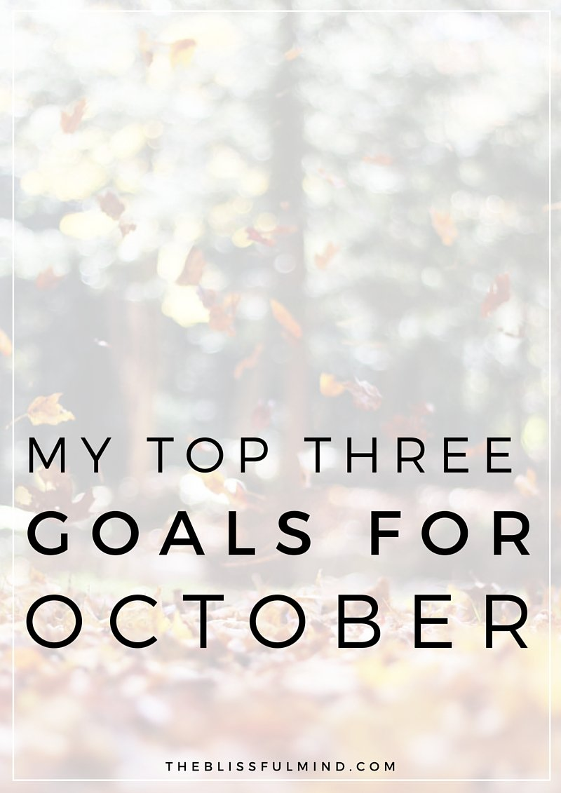 Take a peek at my personal + blog goals for October 2015 and see how I did with my September goals!