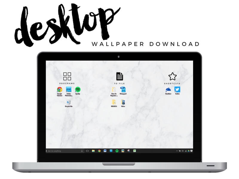 Does it take you forever to find files on your computer? Here's how to organize your digital files and get rid of clutter once and for all! You'll also get a free wallpaper to organize your desktop!