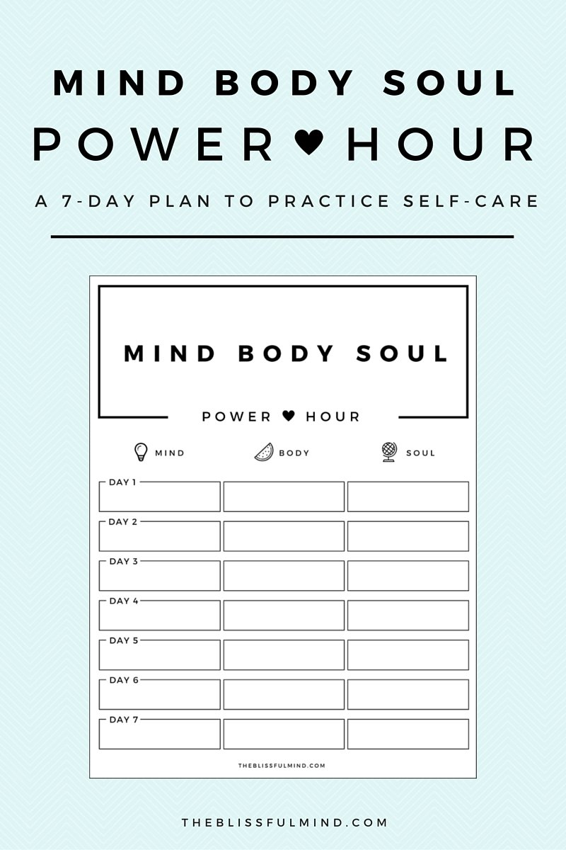 worksheet Self Care Plan Worksheet how to start a self care routine using the power hour method if you feel like dont have time for power
