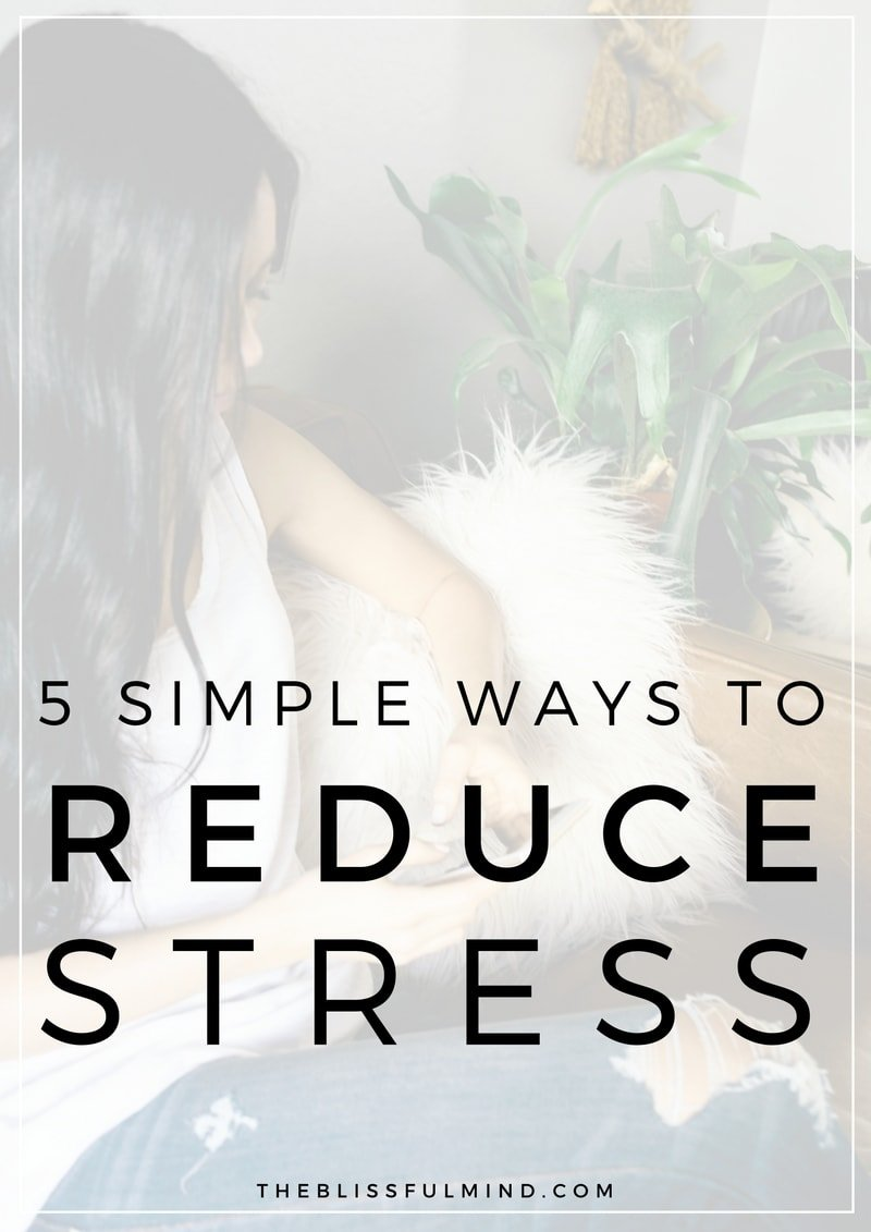 If you've been feeling overwhelmed and stressed out lately, here are 5 simple tips to help you reduce stress, feel calmer, and be more mindful throughout the day!