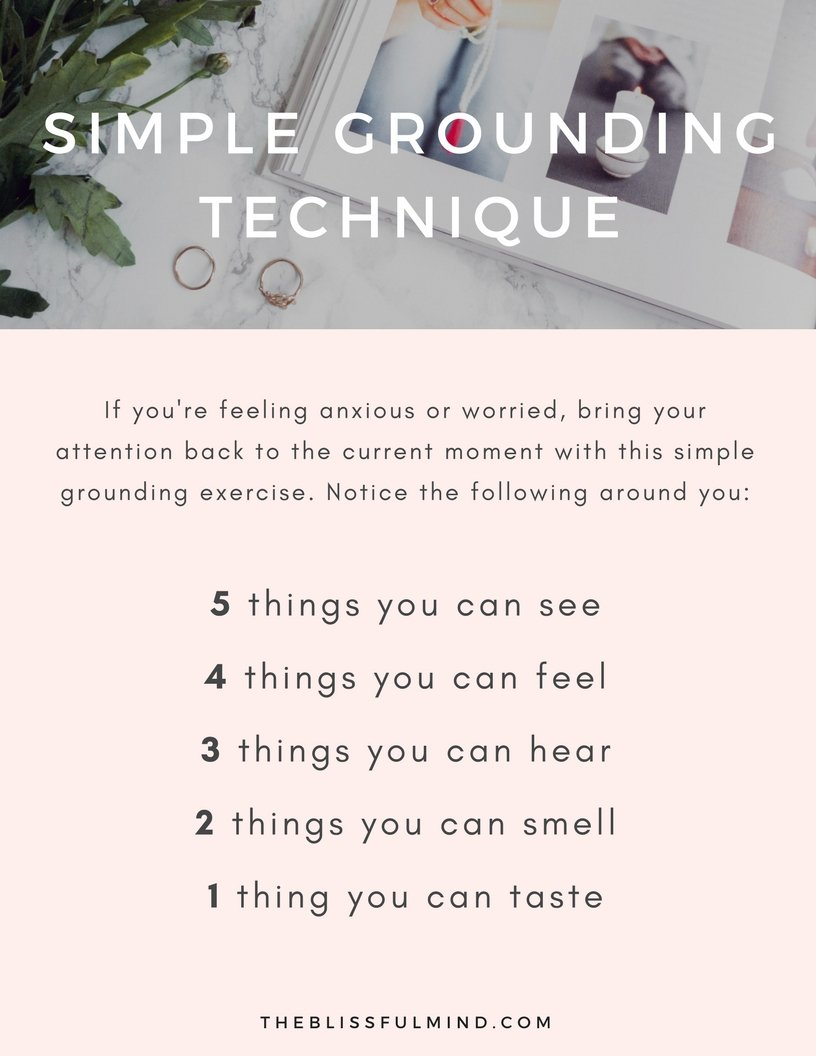 A simple grounding technique to help reduce anxiety