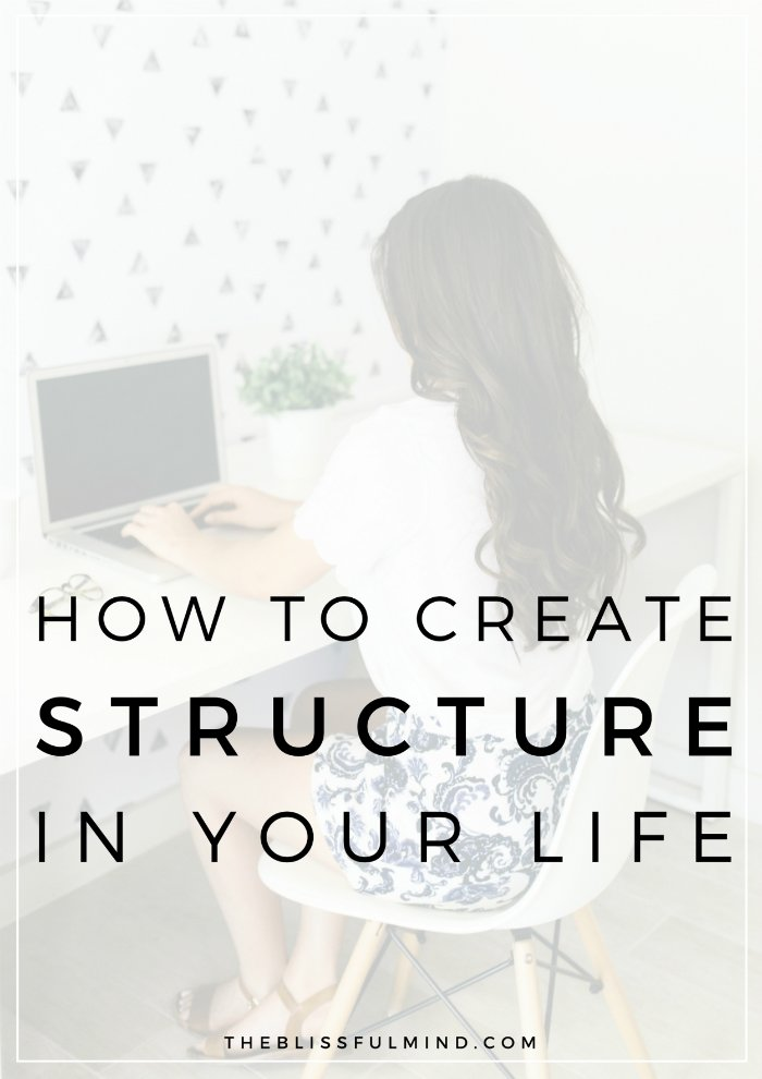 Do you crave stability in your life? Wish you had a more structure in your schedule? Here are 5 ways to build structure into your weekly and daily schedule so you can feel calm, stable, and prepared for whatever comes your way!