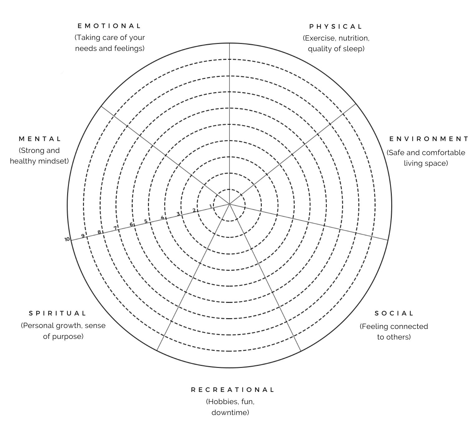 Blank Wellness Wheel