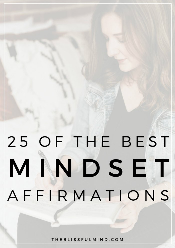 Affirmations are a powerful way to improve your mindset and help you to maintain a positive and peaceful state of mind. Read this post to get a list of 25 daily affirmations to improve your mindset!
