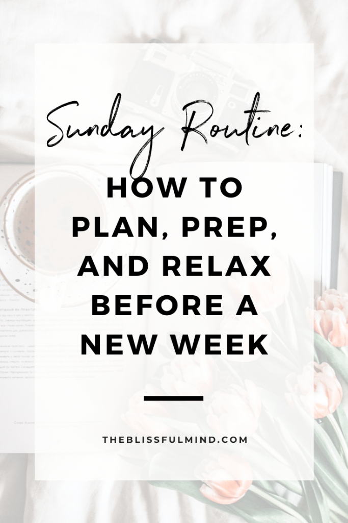 Having a solid Sunday routine sets you up for a successful week. Here's some inspiration for a relaxing yet productive Sunday routine!