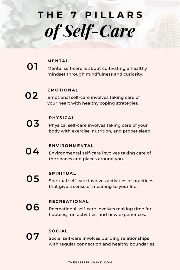 7 pillars of self-care