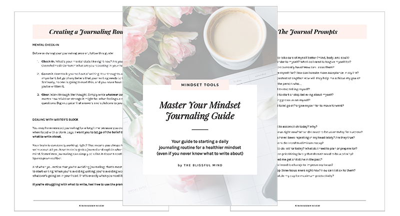 Mindset Journaling Guide Preview Pages